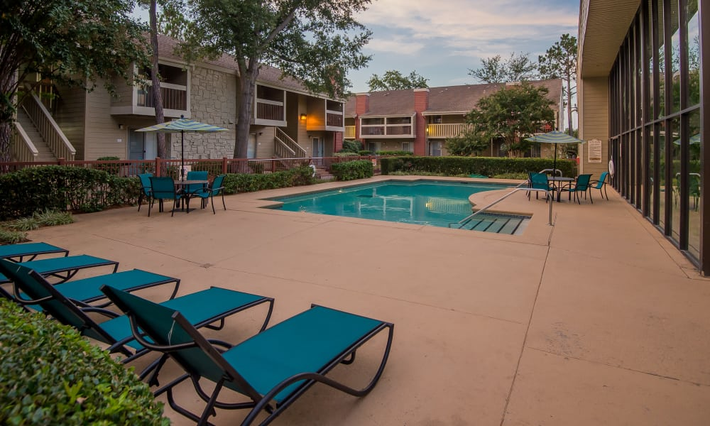 Outdoor swimming pool at Sunchase Apartments in Tulsa, Oklahoma