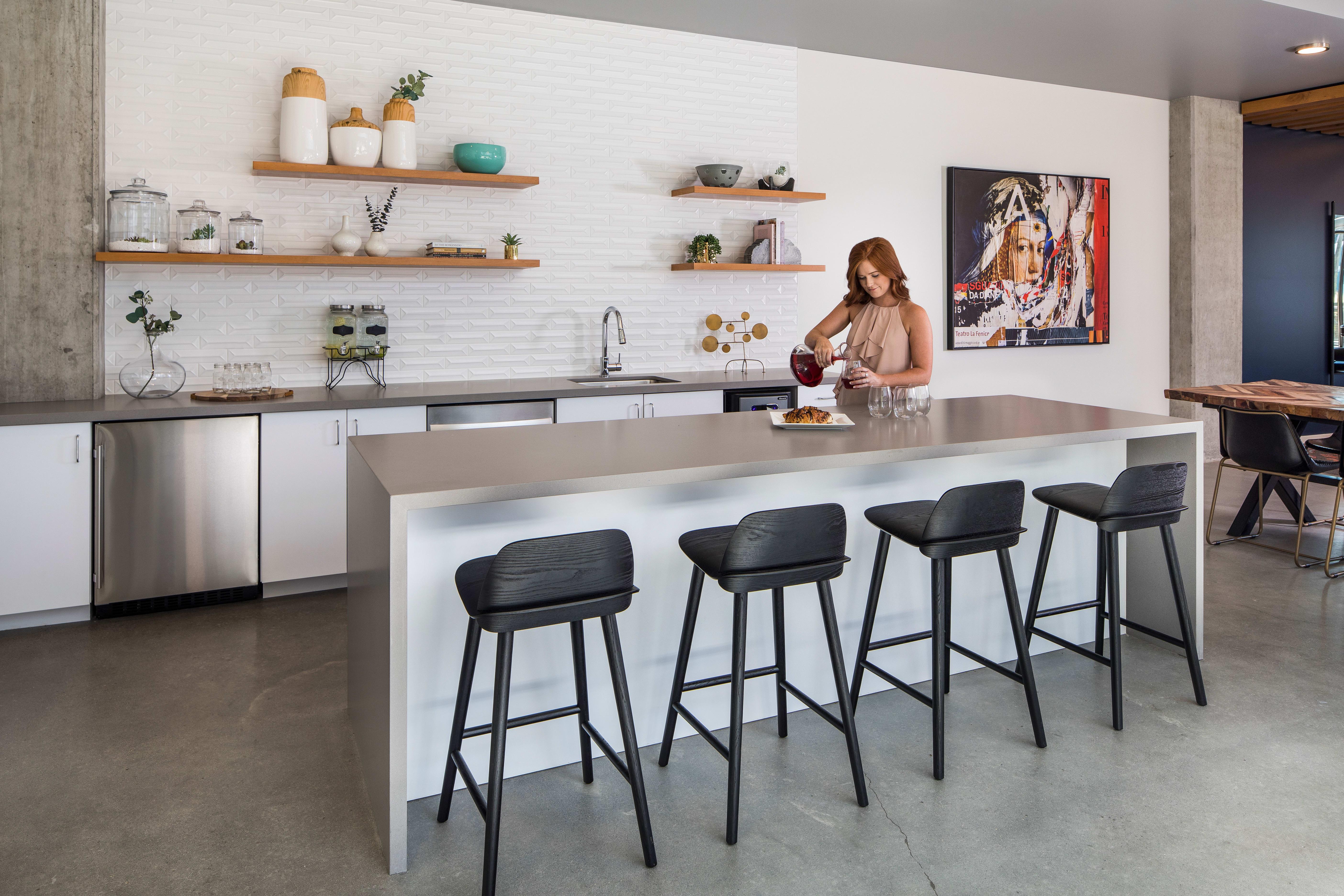 Luxury kitchen at Grant Park Village in Portland, Oregon
