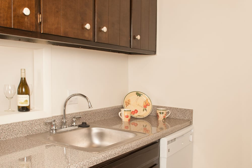 Dishwasher and sink in the kitchen at Pine Ridge in Lindenwold, New Jersey
