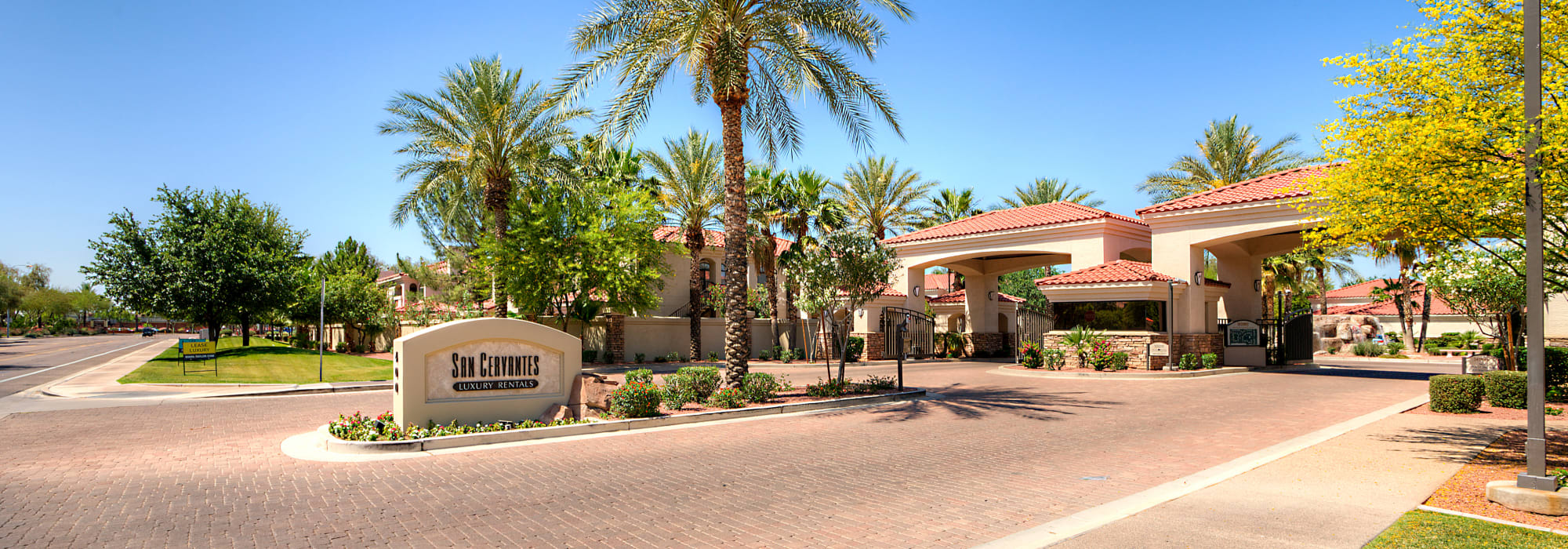 Entrance to San Cervantes in Chandler, Arizona