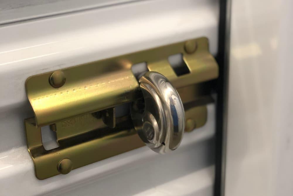 Secure locks at Top Self Storage