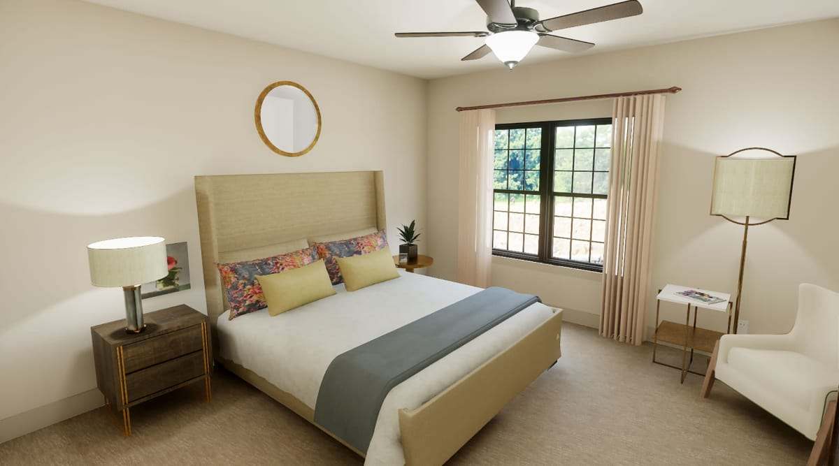 Spacious bedroom at The Fairways of Ironhorse in Leawood