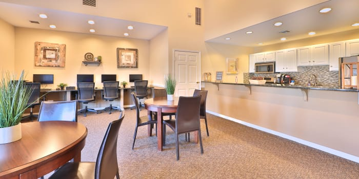 Interior of the Willow Lake Apartment Homes clubhouse