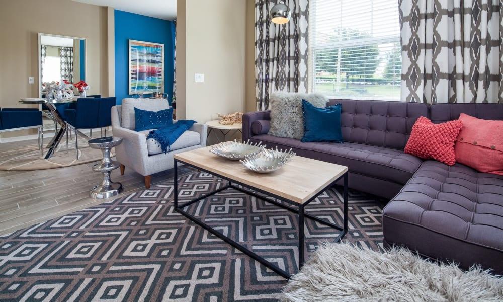 Sunlit living room at Vista at Lost Lake