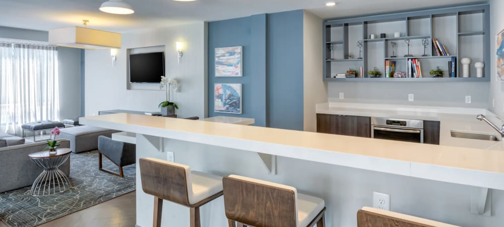 Open room layout at Crossings at Olde Towne in Gaithersburg, Maryland