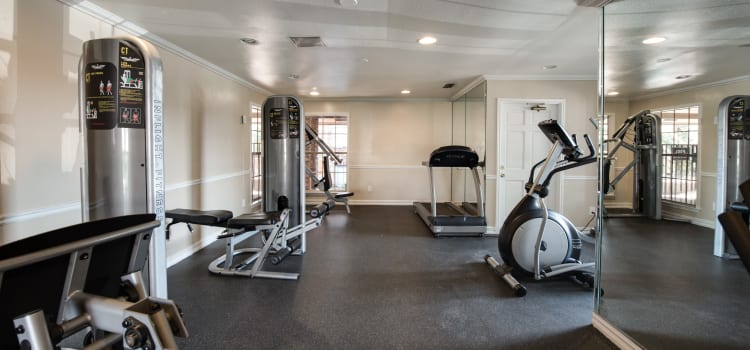 Fitness center at Churchill Crossing Apartments