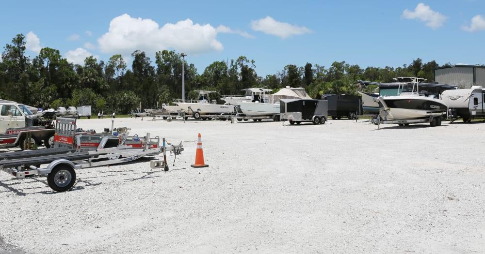 RV storage at Midgard Self Storage in Naples, Florida