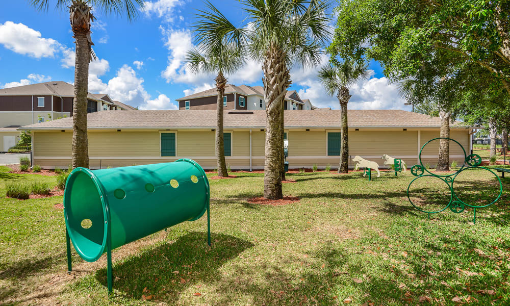 Onsite dog park with agility course at Cabana Club and Galleria Club in Jacksonville, Florida