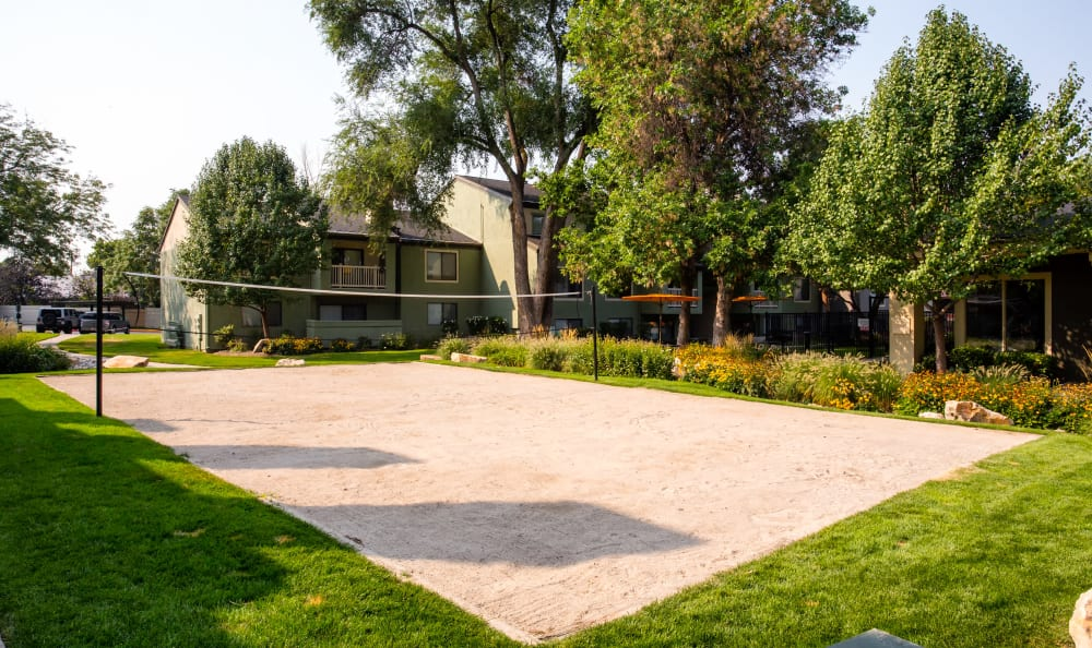 Living at Royal Farms Apartments in Salt Lake City includes sand Volleyball