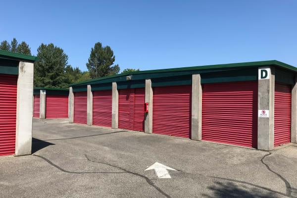 Exterior self storage units available at Trojan Storage in Puyallup, Washington
