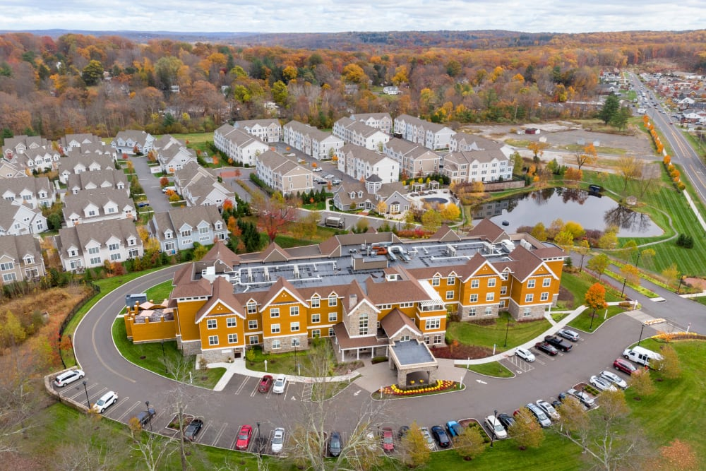 Birds eye view of the complex in Bethel, Connecticut