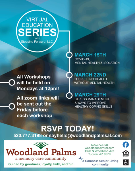 virtual education series at Woodland Palms Memory Care