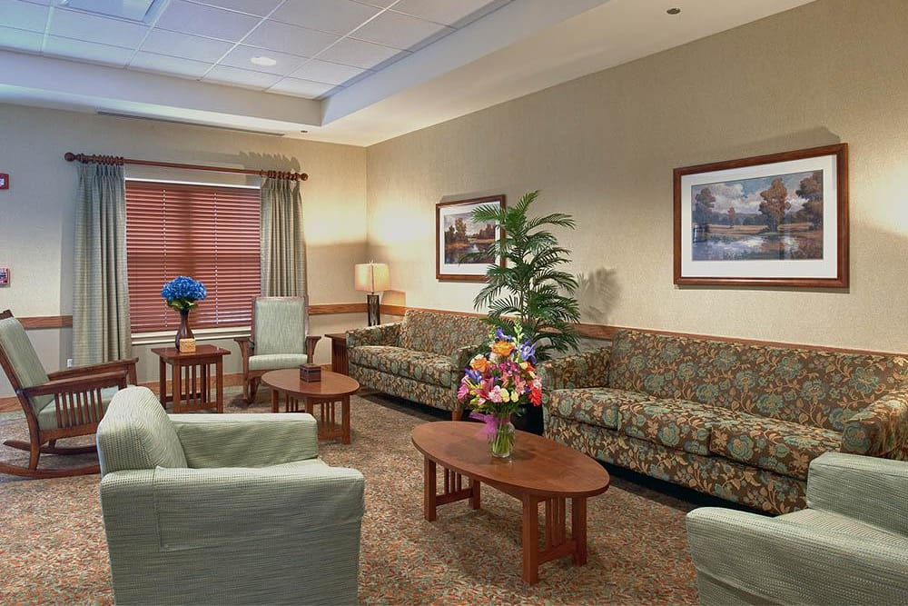 Living room with couches at Victory Centre of Vernon Hills