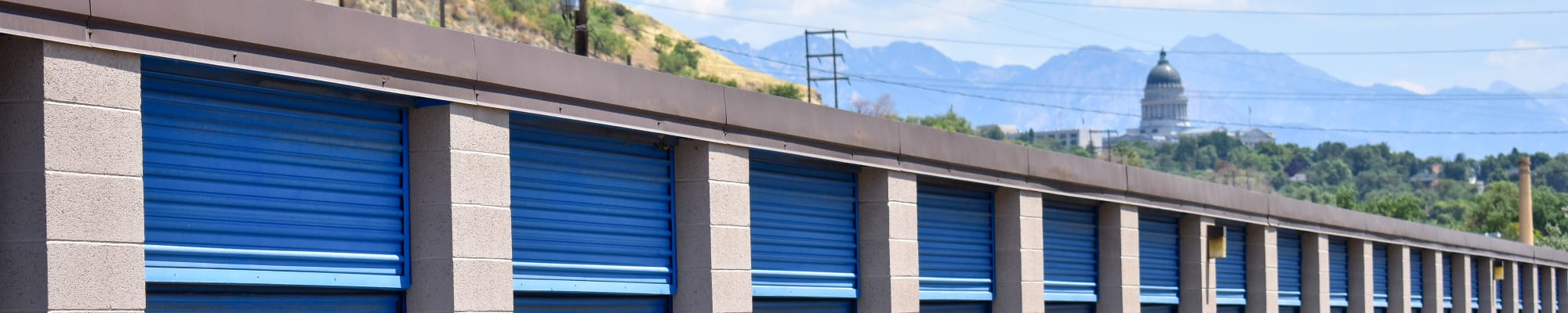 Drive-up storage at STOR-N-LOCK Self Storage in Salt Lake City, Utah