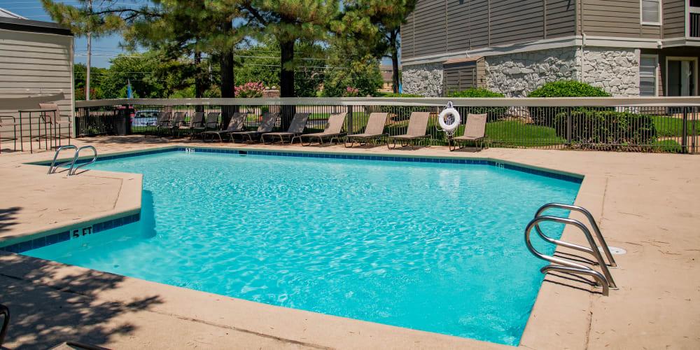Swimming pool at Eagle Point Apartments in Tulsa, Oklahoma