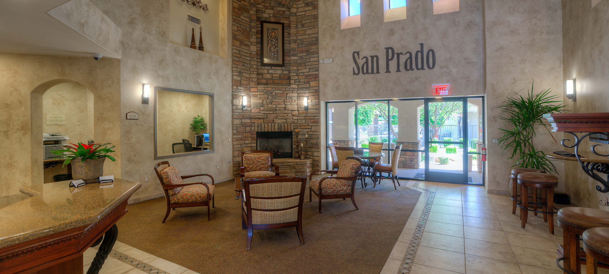 Clubhouse seating at San Prado in Glendale, Arizona