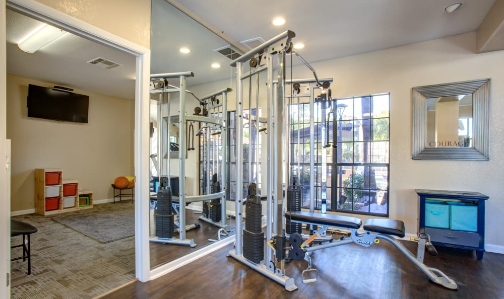 Apartments with a state of the art gym in Tempe, Arizona