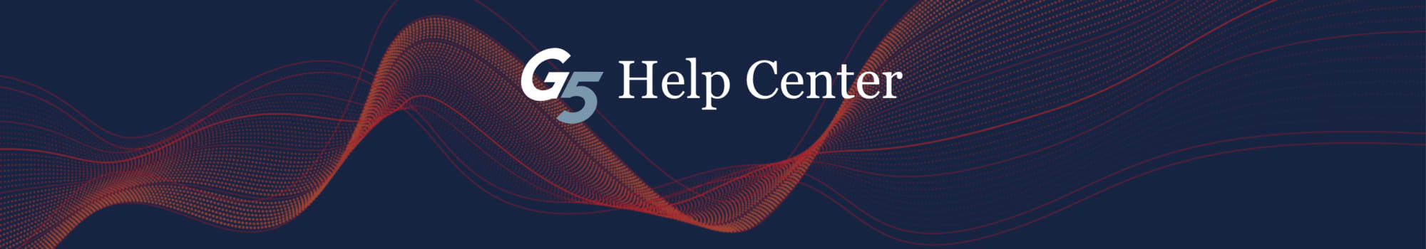 Welcome to G5 Help Center