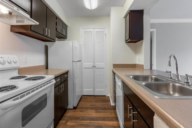 Spacious kitchen with plenty of counter top space at The Hamilton in Hendersonville, Tennessee