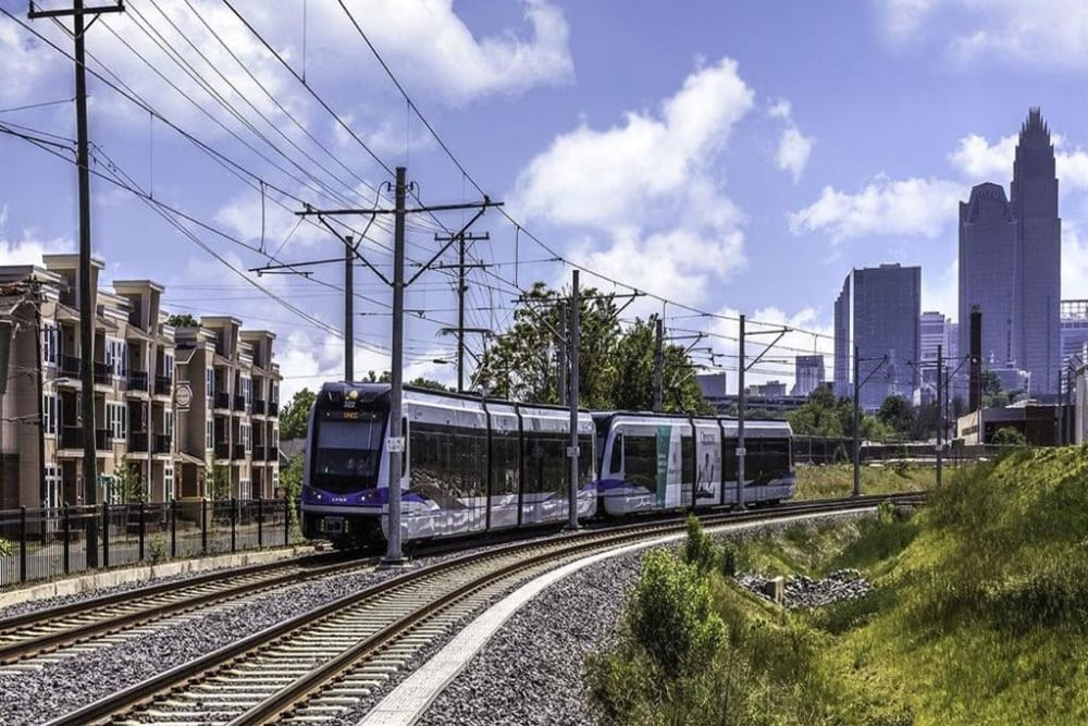 Light Rail near 300 Optimist Park in Charlotte, North Carolina