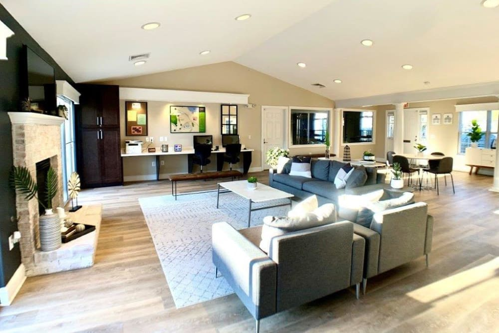 A spacious clubhouse at Villas at Greenview West in Great Mills, Maryland