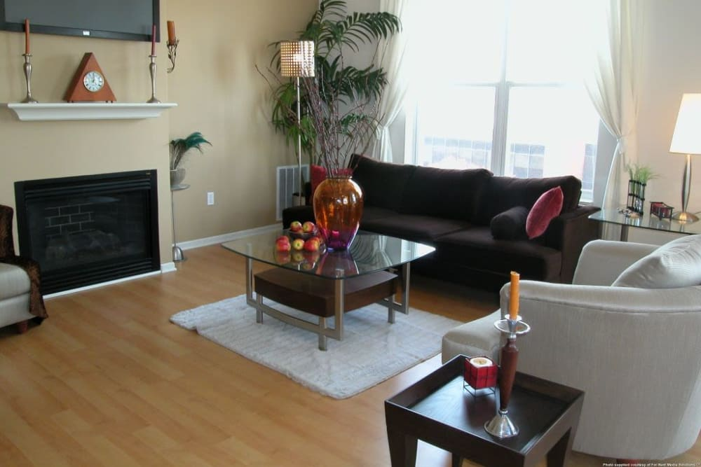 Beautiful living room at Loring Park Apartments in Minneapolis