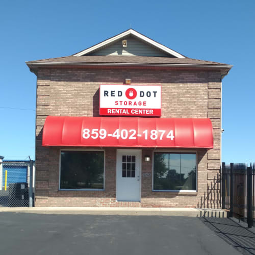 The rental center at Red Dot Storage in Winchester, Kentucky