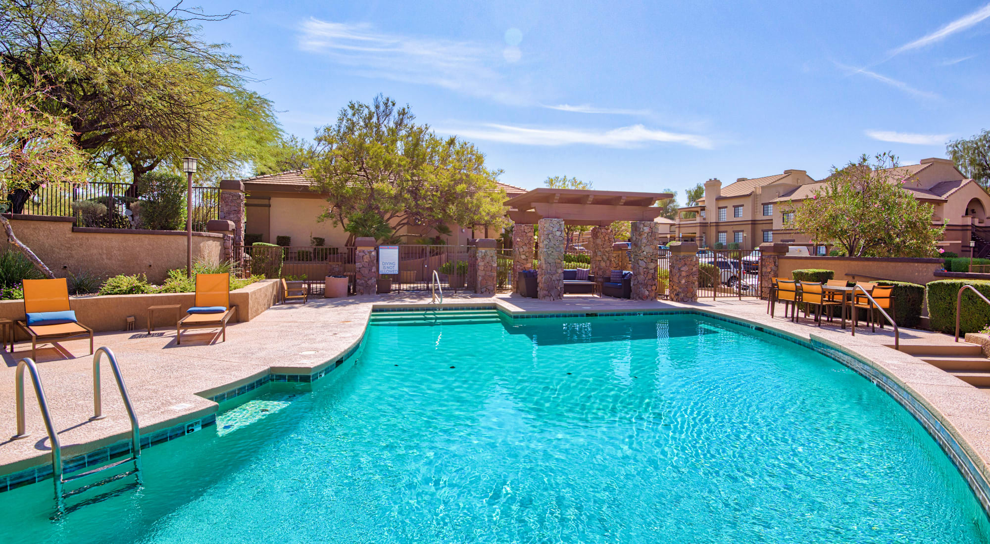 Refreshing  swimming pool at Starrview at Starr Pass apartments in Tucson, AZ