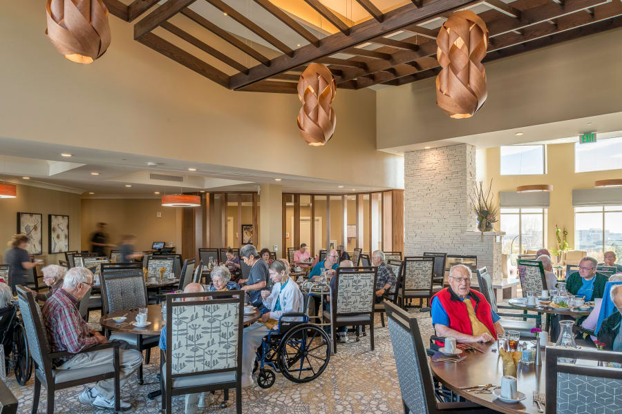 Full view of the grand dining room at Village at Belmar
