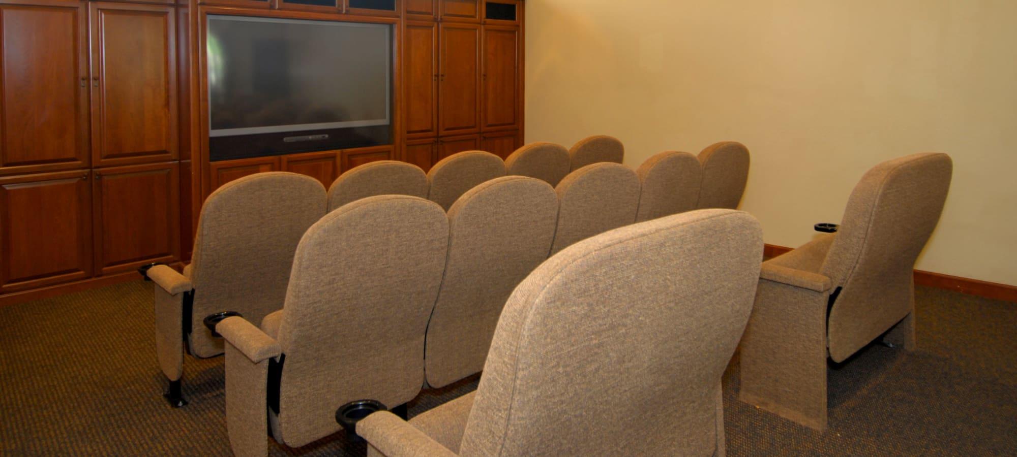 Mini theater room at Remington Ranch in Litchfield Park, Arizona