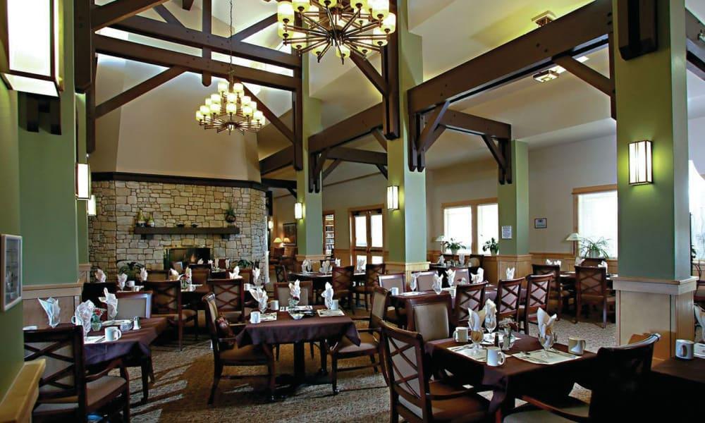 Dining area at Crystal Terrace of Klamath Falls in Klamath Falls, Oregon