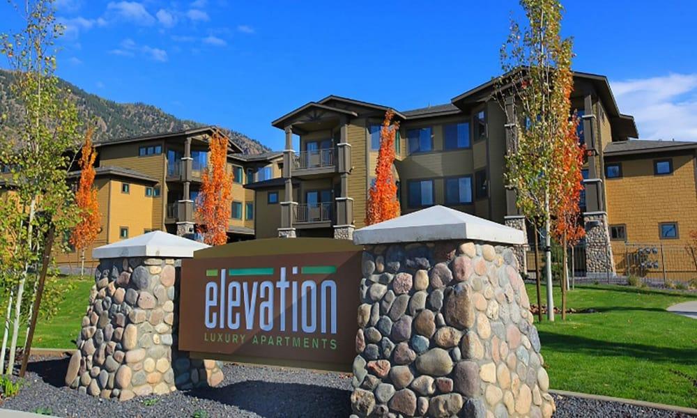 Signage at Elevation Apartments