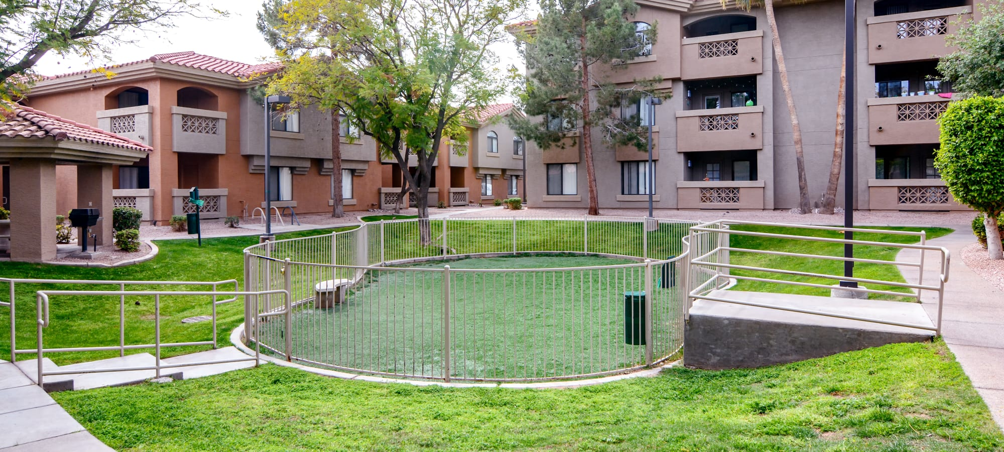 Dog park at The Palms on Scottsdale in Tempe, Arizona