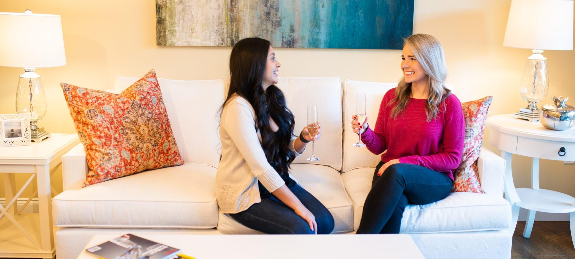 Spacious living room in model home at Villa Vita Apartments in Peoria, Arizona