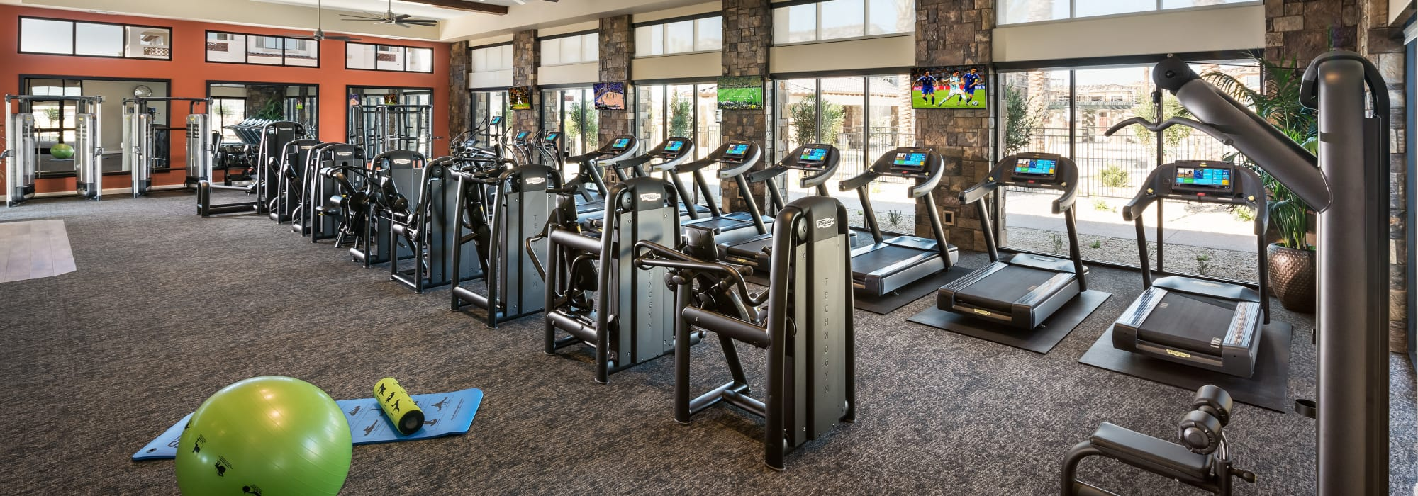 Very well-equipped fitness center at San Villante in Mesa, Arizona