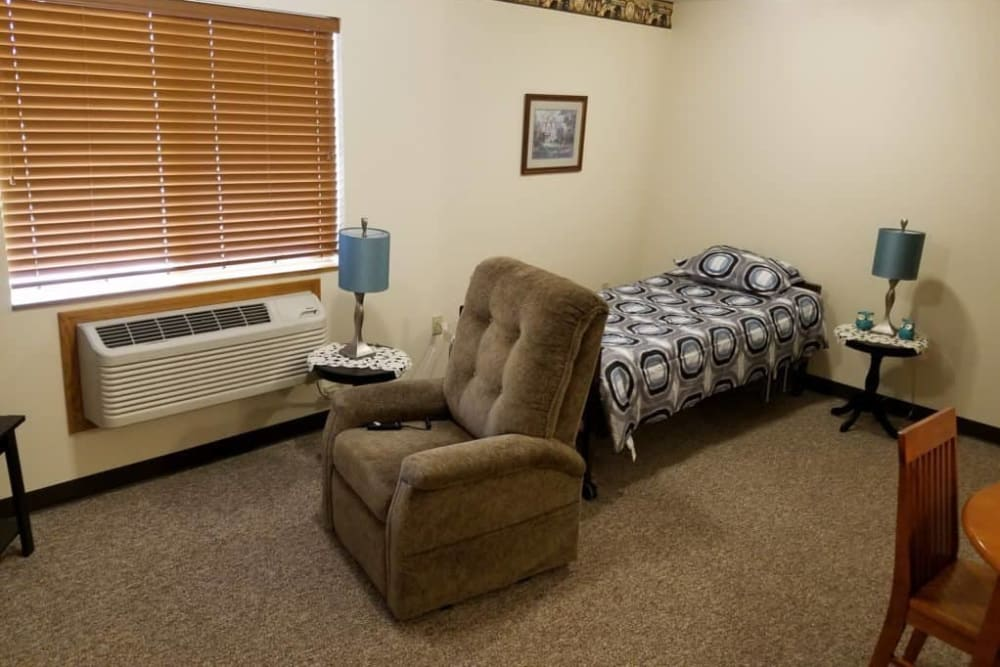 Respite care room at Manning Senior Living in Manning, Iowa.