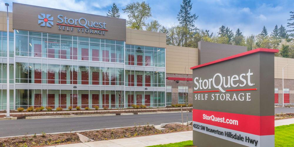 Exterior of StorQuest Self Storage in Portland, Oregon
