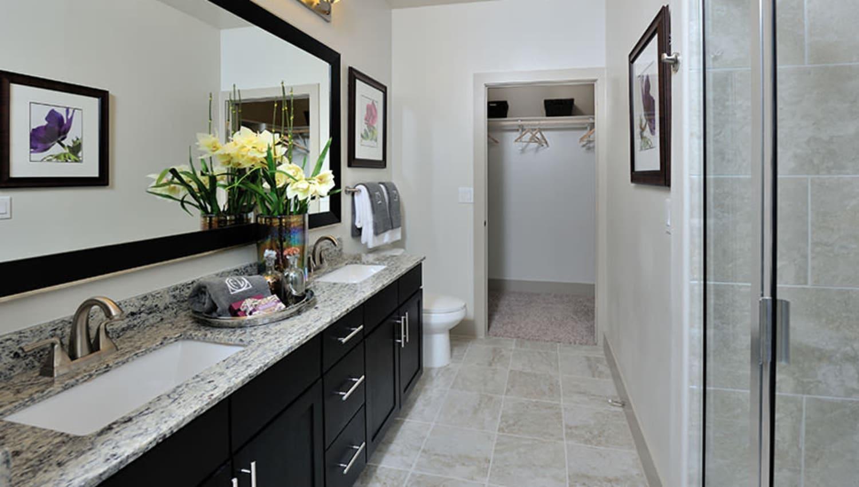 Model bathroom at Olympus Falcon Landing in Katy, Texas