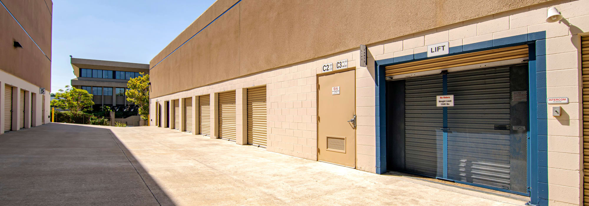 Outdoor units at Sorrento Valley Self Storage in San Diego, California
