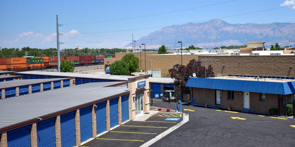 The front entrance to STOR-N-LOCK Self Storage in Riverdale, Utah