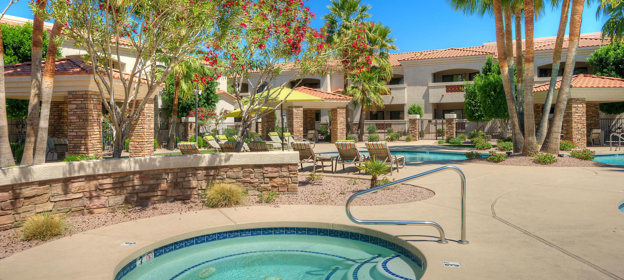 Hot tub at San Prado in Glendale, Arizona