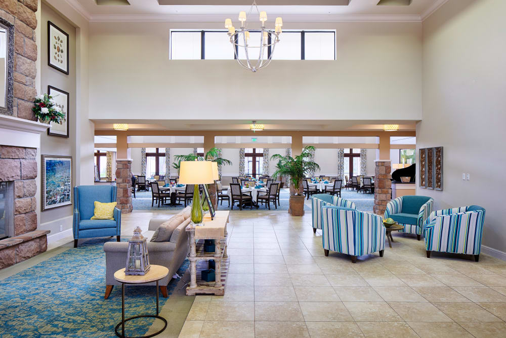 Spacious common area at The Fountains of Hope in Sarasota, Florida.