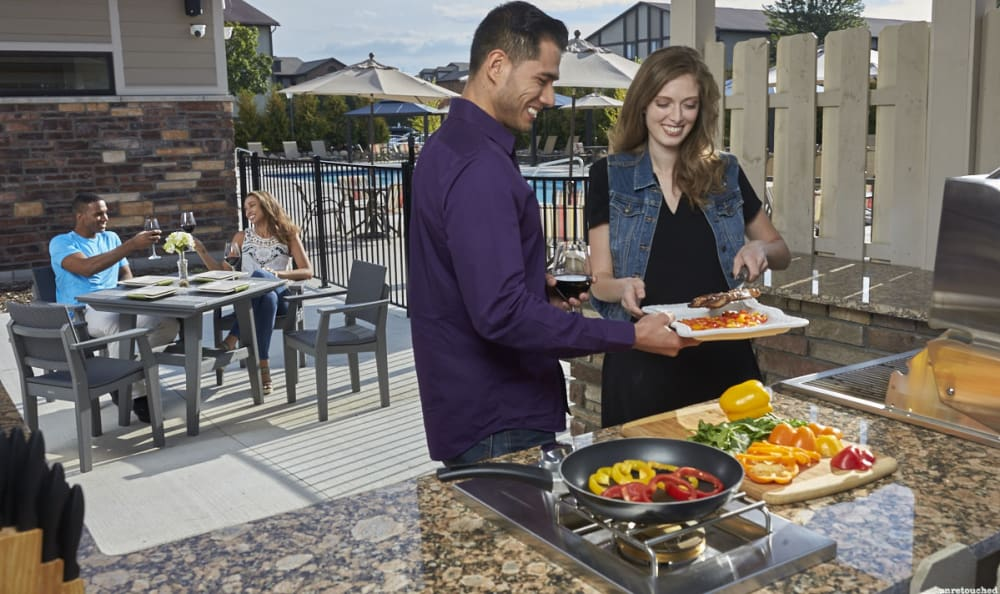 The Trilogy Apartments has a great BBQ next to the sparklingly pool