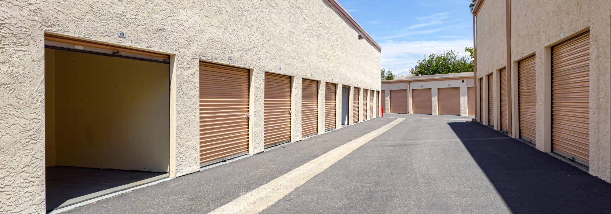 Outdoor units at San Marcos Mini Storage in San Marcos, California
