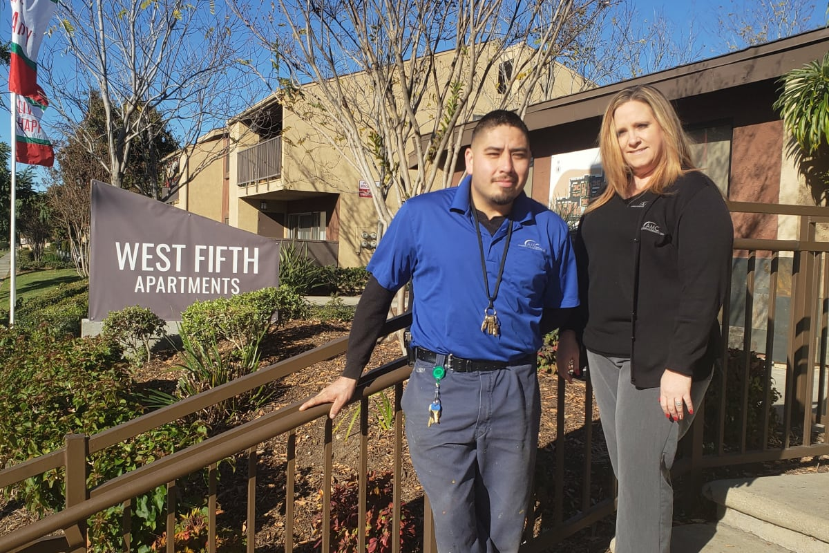 The team at West Fifth Apartments in Ontario, California