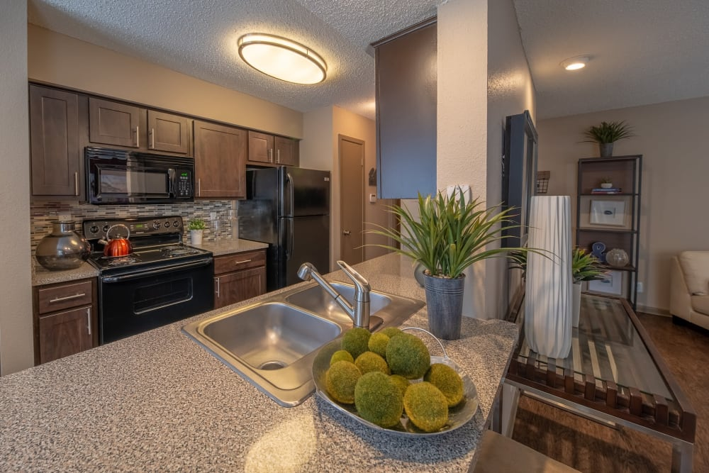 Ridgeview Place offers a well-equipped kitchen in Irving, Texas