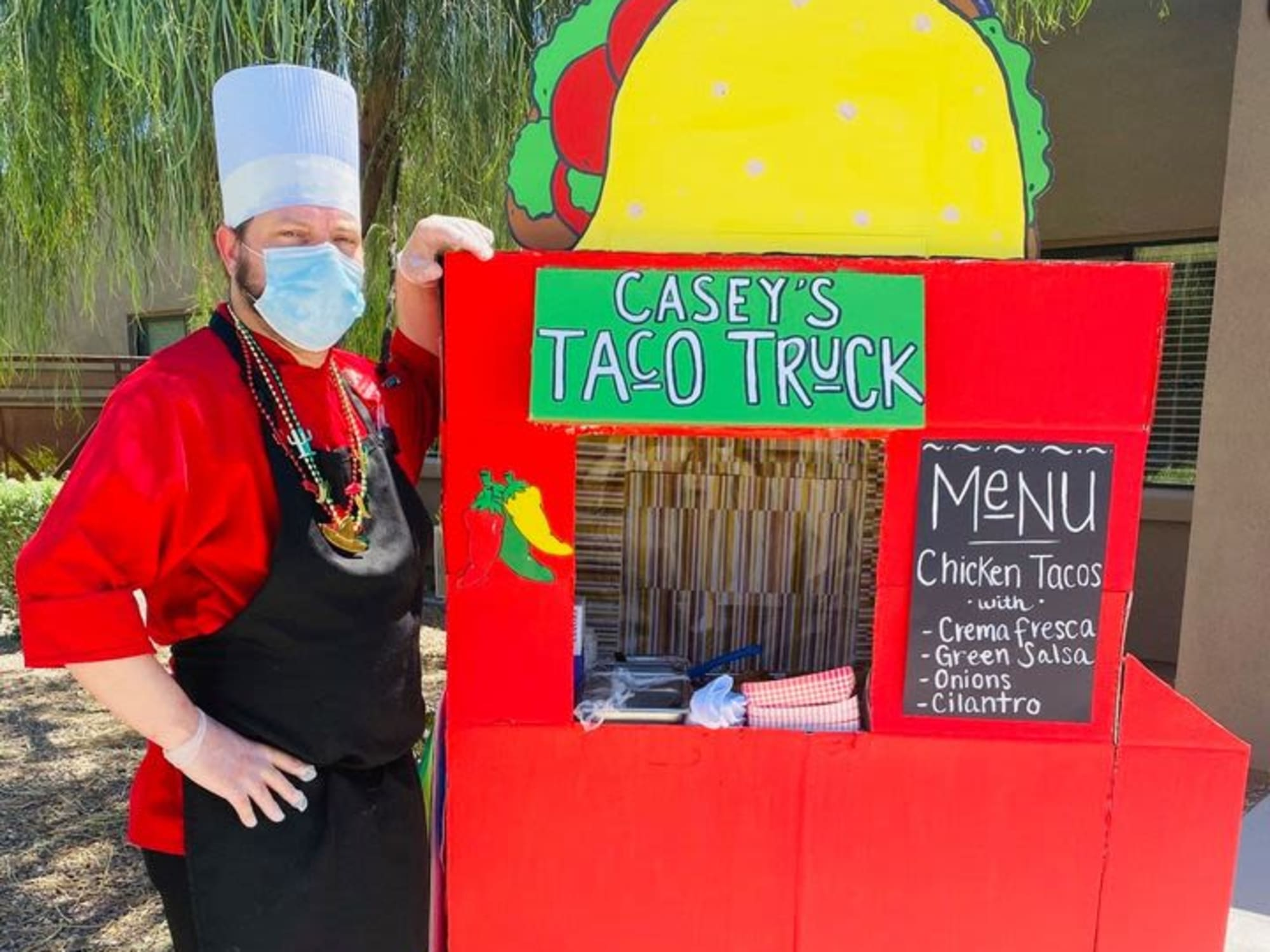 Taco truck stand at Hacienda Del Rey in Litchfield Park, AZ