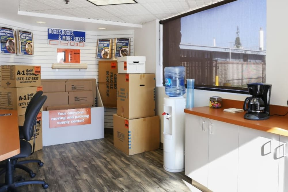 The office at A-1 Self Storage in Anaheim, California