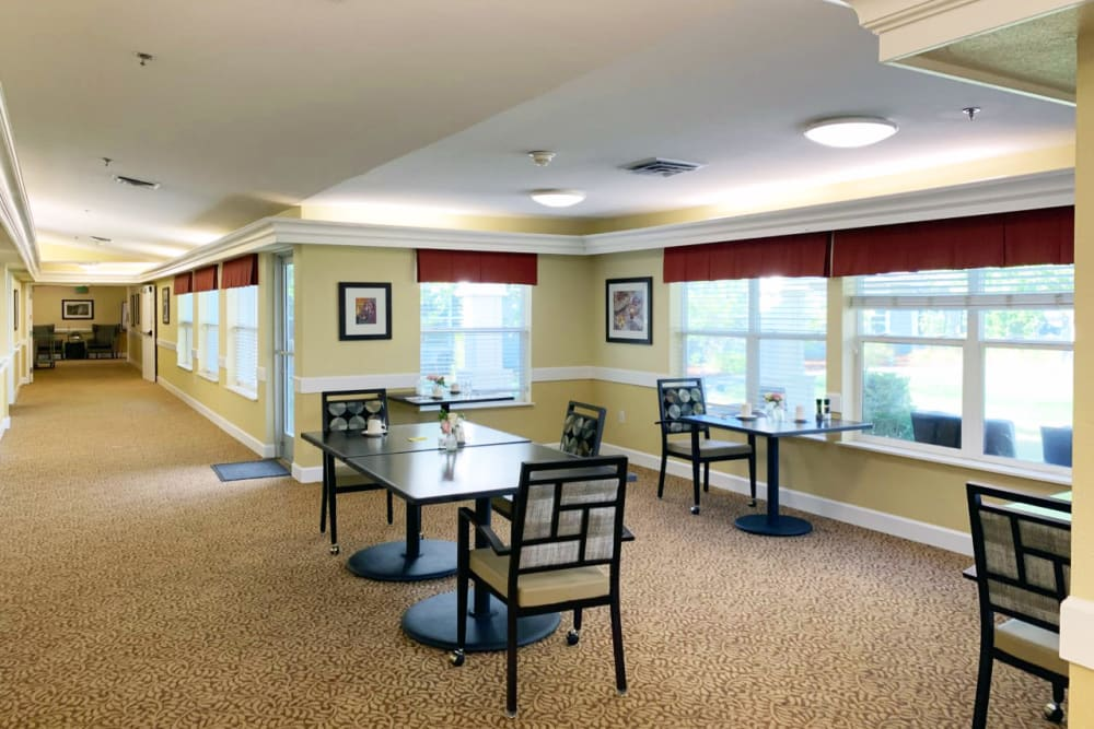 Another dining area at Lassen House Senior Living in Red Bluff, California