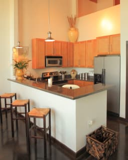 Spacious floor plans at The Lofts Of Greenville in Greenville, South Carolina
